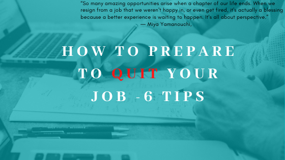 How to prepare to quit your job image