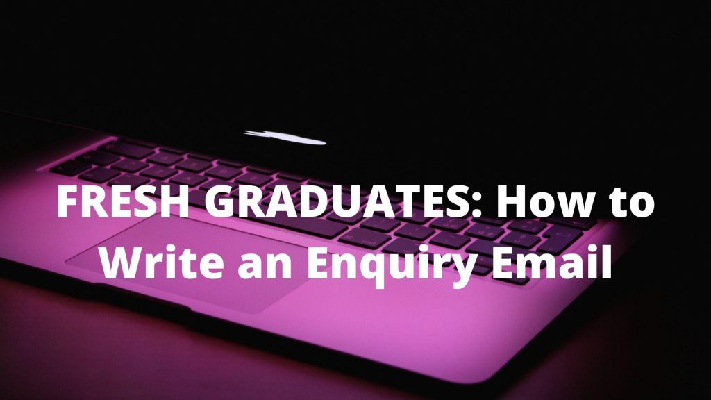 Fresher's Job Enquiry Email