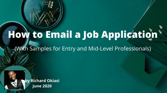 How to email a job application