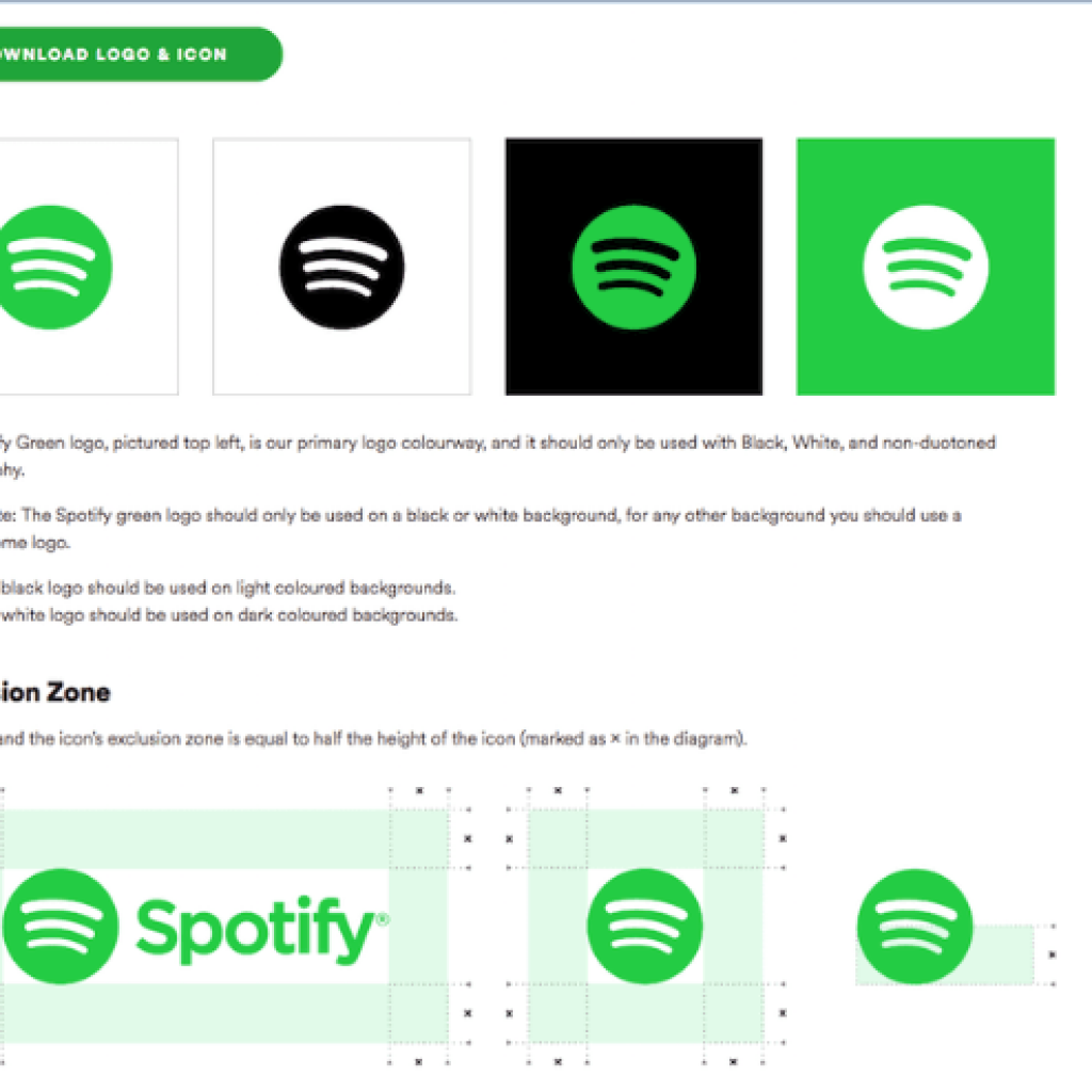Branding Guidelines Example -Spotify